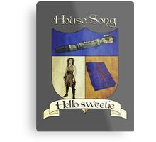 House Song Crest Metal Print
