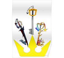 Kingdom Hearts United Keyblades Poster