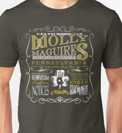 Molly Maguires Vintage Chalk Board Design Unisex T-Shirt