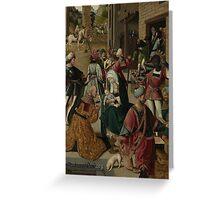 Adoration of the Magi: Jacob Cornelisz van Oostsanen Greeting Card