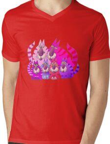 Purrrrfect in pink Mens V-Neck T-Shirt