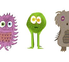 3 Cute Monsters by Jessica Slater