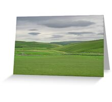 Sky shapes in Yorkshire Dales Greeting Card