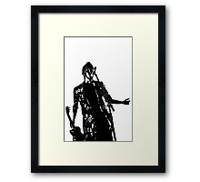 Black and white Tyler Framed Print