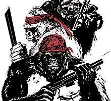 Guerrilla Gorillas White by Paramo