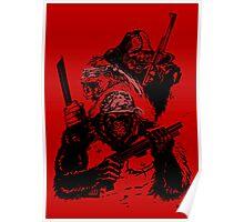 Guerrilla Gorillas Red Poster