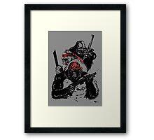 Guerrilla Gorillas Gray Framed Print