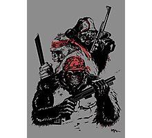 Guerrilla Gorillas Gray Photographic Print