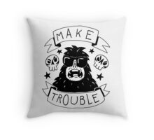 Make trouble - anarchy gorilla Throw Pillow