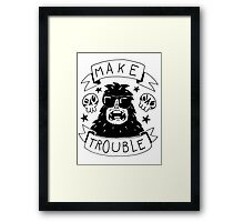 Make trouble - anarchy gorilla Framed Print