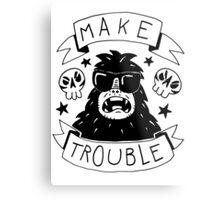 Make trouble - anarchy gorilla Metal Print