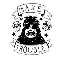 Make trouble - anarchy gorilla Photographic Print