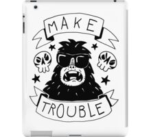 Make trouble - anarchy gorilla iPad Case/Skin