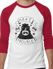 Make trouble - anarchy gorilla Men's Baseball ¾ T-Shirt