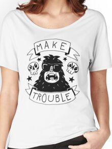 Make trouble - anarchy gorilla Women's Relaxed Fit T-Shirt