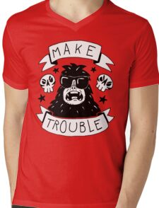 Make trouble - anarchy gorilla Mens V-Neck T-Shirt