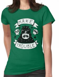 Make trouble - anarchy gorilla Womens Fitted T-Shirt