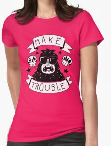 Make trouble - anarchy gorilla Womens T-Shirt