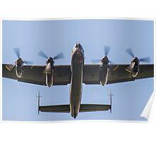 Lancaster Bomber Take Off Poster