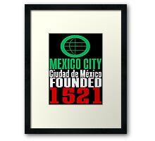 Ciudad de México Framed Print