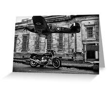 Bike and Plane Greeting Card