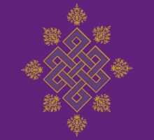 Tibet Mystical Endless Knot with Lotuses by bodhicittatees