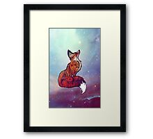 Space Fox Framed Print