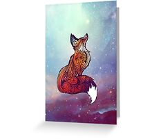 Space Fox Greeting Card
