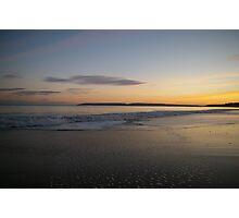 Sunset over Bournemouth beach Photographic Print