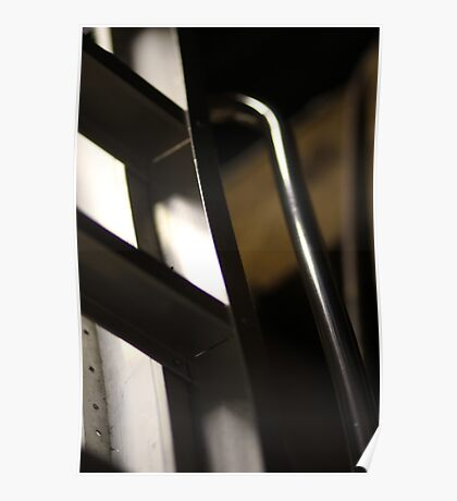 Abstract of a loft ladder Poster