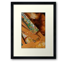 Abstract of a artists easel  Framed Print