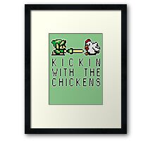 Kickin with the Chickens Framed Print