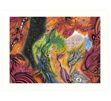 Vishnu and Padmā Dreaming the Dream of the World Art Print