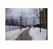 Winter Walkway Art Print
