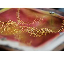 Silk painting on frame  Photographic Print