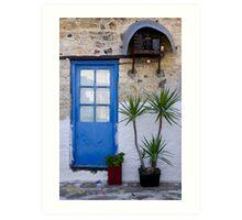 Blue doorway Art Print