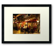 The French Cafe Framed Print
