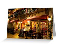 The French Cafe Greeting Card