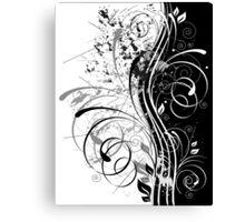 b&w grunge Canvas Print