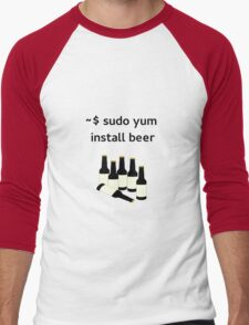 Linux sudo yum install beer Men's Baseball ¾ T-Shirt
