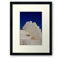 White steps Framed Print
