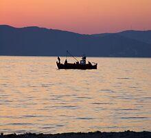 Greek fishing boat by kevomanno