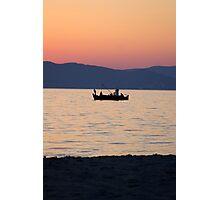 Greek fishing boat Photographic Print