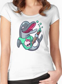 Artistic Dolphin 2 Women's Fitted Scoop T-Shirt