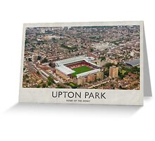 Vintage Football Grounds - Upton Park (West Ham United FC) Greeting Card