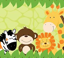 Jungle Safari Animals by JessDesigns