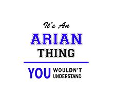 It's an ARIAN thing, you wouldn't understand !! by allnames