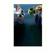 Between boats Art Print