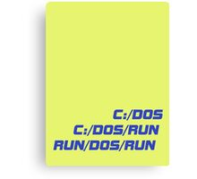 Run Dos Run Canvas Print