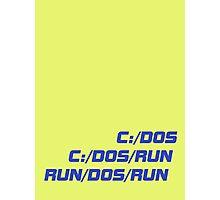 Run Dos Run Photographic Print